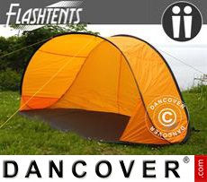 Tenda da spiaggia, FlashTents®, 2 persone, Arancio/Grigio scuro