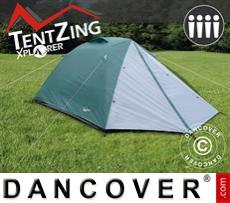 Tenda campeggio, TentZing® Explorer 4 persone, Verde / grigio