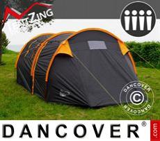 Tenda da campeggio, TentZing® Tunnel, 4 persone, Arancione/Grigio Scuro