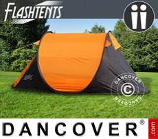 Tenda da campeggio pop-up, FlashTents®, 2 persone, Arancio/Grigio scuro
