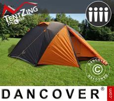 Tenda da Campeggio, TentZing® Xplorer, 4 persone, Arancio/Grigio scuro