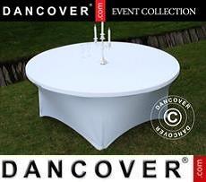 Copri-tavolo elasticizzato, Ø183x74cm, Bianco