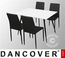 Set da pranzo con 1 tavolo da pranzo Siena, Bianco/Nero + 4 sedie da pranzo…