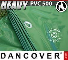 Telo 5x7m PVC 500 g/m² Verde, Ignifugo