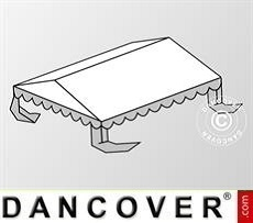 Copertura del tetto per il Tendone per feste Plus 4x6m PE, Bianco / Grigio