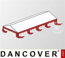 Copertura del tetto per il Tendone per feste Original 6x8m PVC, Bianco / rosso