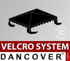 Copertura per il tetto del Tendone per Feste UNICO, PVC/Poliestere, 3x3m, Nero
