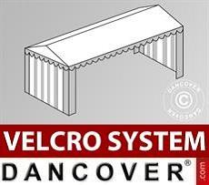 Copertura del tetto in Velcro per il tendone Plus 5x10m, Bianco / Grigio
