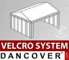 Copertura del tetto in Velcro per il tendone Plus 5x6m, Bianco / Grigio