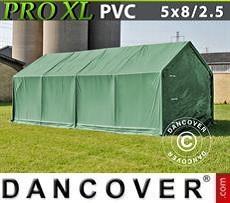 Capannone tenda PRO 5x8x2,5x3,3m, PVC, Verde