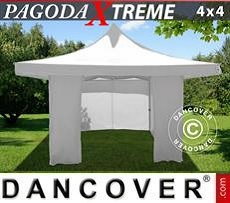 Tendoni Gazebi Party Pagoda Xtreme 4x4m / (5x5m) Bianco, inclusi 4…