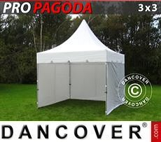 Tendoni Gazebi Party PRO Peak Pagoda 3x3m Bianco, incluso 4 pareti…