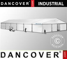 Magazzino Industriale 12x25x5,92m con portone scorrevole, PVC, Bianco