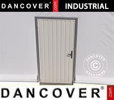 Porta di metallo per Magazzino Industriale, 0,9x2m, Bianco