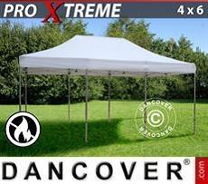 FleXtents Gazebi per Feste Xtreme 4x6m Bianco, Ignifugo
