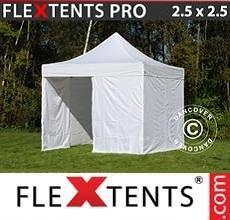 Tenda per racing PRO 2,5x2,5m Bianco, inclusi 4 fianchi