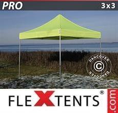 Tenda per racing PRO 3x3m Giallo Fluo/verde