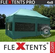 Tenda per racing 4x8m Verde, inclusi 6 fianchi