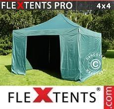 Tenda per racing PRO 4x4m Verde, inclusi 4 fianchi