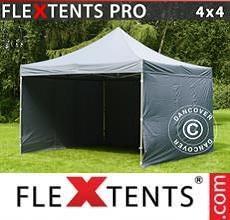 Tenda per racing PRO 4x4m Grigio, inclusi 4 fianchi