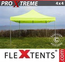 Gazebo pieghevole  Xtreme 4x4m Giallo Fluo/verde