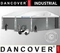 Magazzino Industriale 10x10x4,52m con portone scorrevole, PVC/Metallo, Bianco