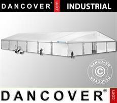 Magazzino Industriale 20x30x8,04m con portone scorrevole, PVC, Bianco