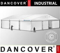 Magazzino Industriale 12x12x5,42m con portone scorrevole, PVC, Bianco