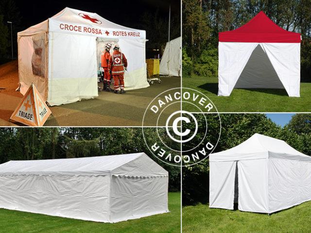 Dancover, Dancovershop, screening, triage, pre-triage, medische tent, triageproces, triagetenten, vouwtenten