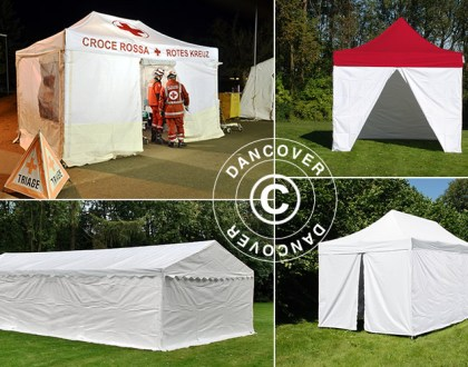 Dancover, Dancovershop, screening, triage, pre-triage, medische tent, triageproces, triagetenten, vouwtenten