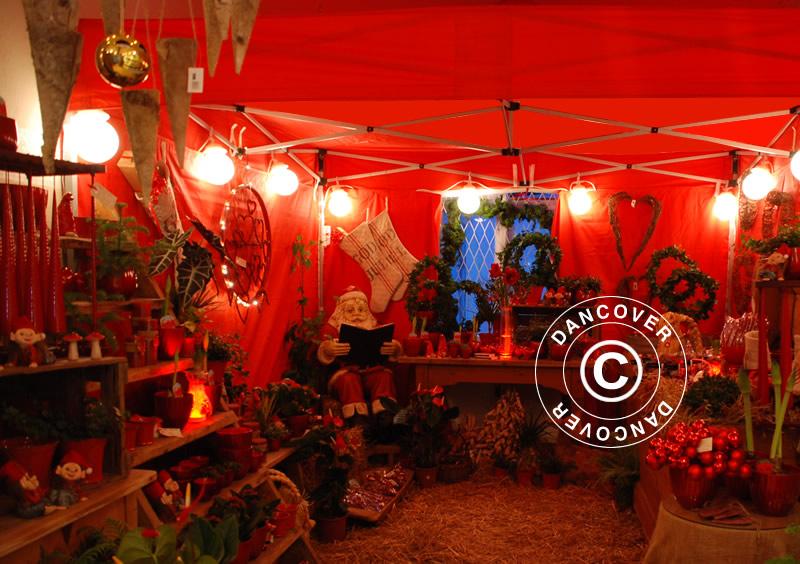 Julemarked i et elegant markedstelt
