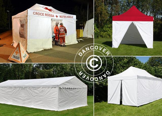 triage, för-triage, undersökningar, Dancover, Dancovershop, medicinska tält, snabbtält, triage-tält, professionella tält