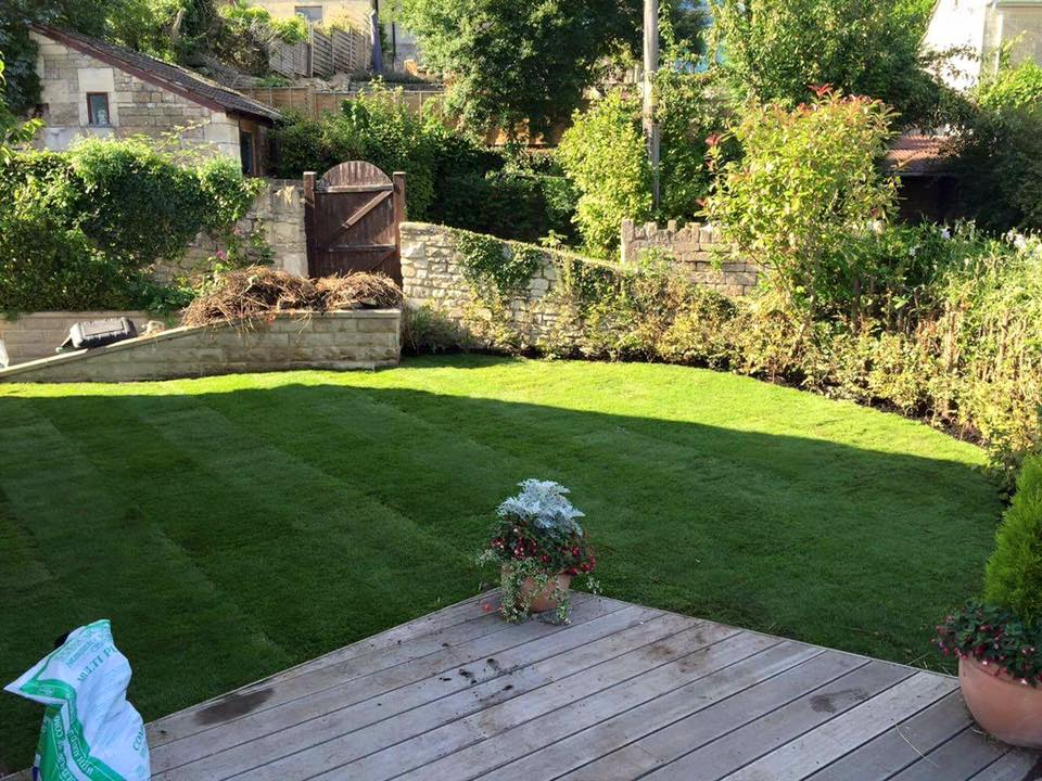 Decking and new lawn Wiltshire