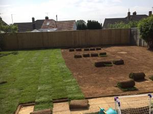 New lawn laying the finest turf by Dan Davies Landscaping, Wiltshire