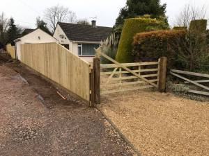 New fencing, gate, driveway in Wiltshire