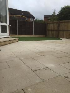 New patio, fence and lawn in Trowbridge, garden landscaping