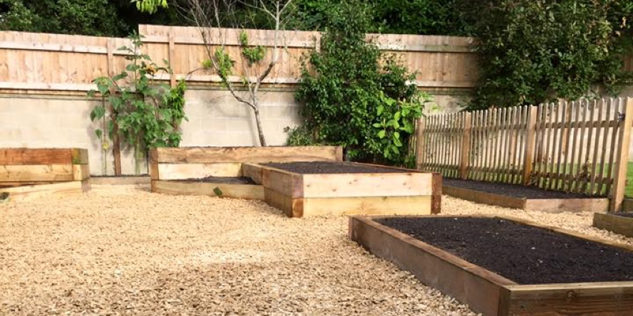 Raised borders and fencing