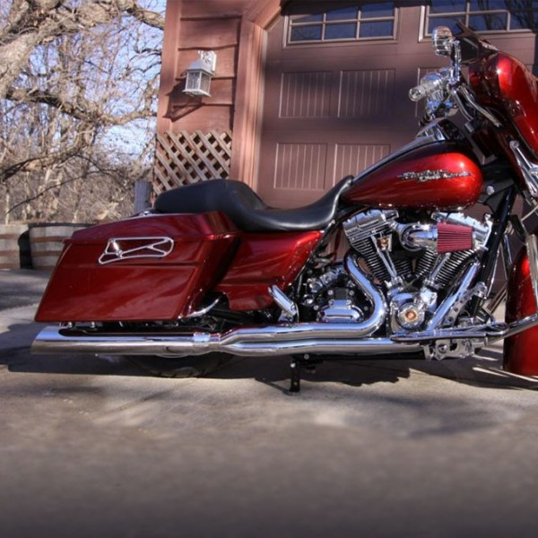 2009 2016 harley touring boss boarzilla 2 1 full exhaust system