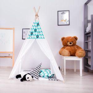 cort de joaca copii cu imprimeu ursi