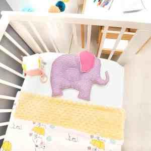 Pui de perna BABY Elefantul cu dungi mov