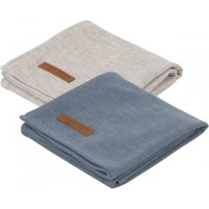 Set 2 Museline din bumbac - Pure Blue/Grey