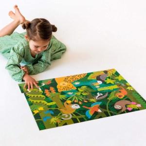 Puzzle de podea Padurea Tropicala - Petit Collage