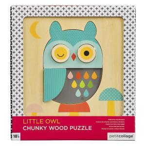 Puzzle din lemn in straturi Micuta Bufnita – Petit Collage
