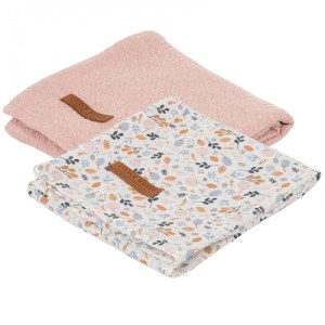 Set 2 Museline din bumbac - Pure Pink/Spring Flowers