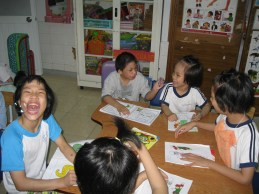 Coloring gbooks were my simple parting gift for the munchkins. They sure love to color.