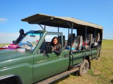 Our trusty safari truck. No sides. No hard roof. No fear.