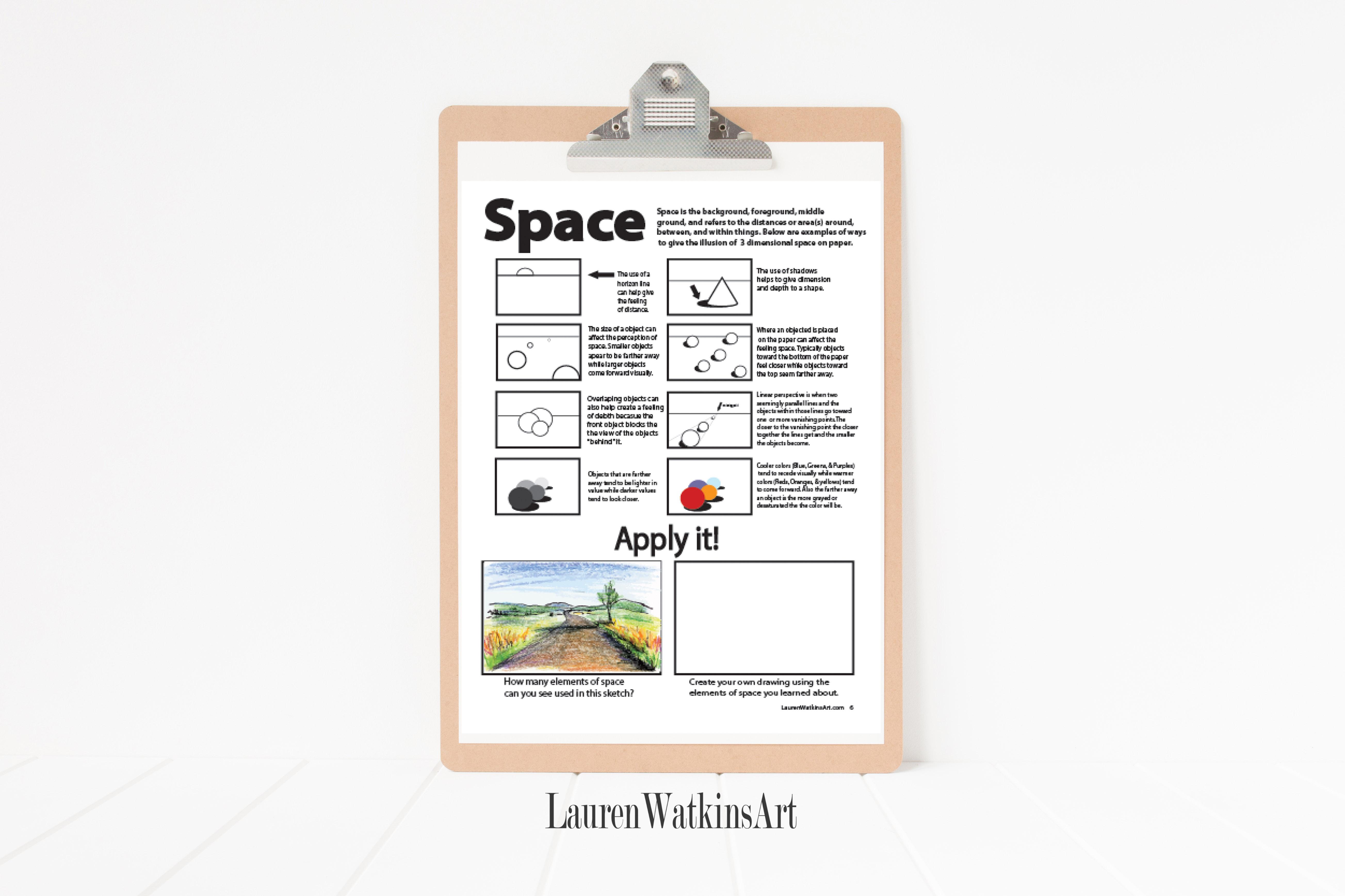 Elements Of Art Worksheets Lauren Watkins Art