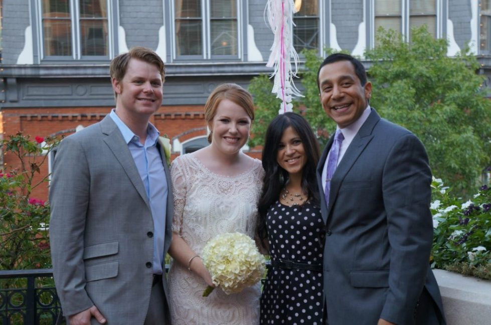 Chip, Jessica, Dennisse and Aaron at Chip and Jessica's Wedding