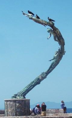 """Millennium Statue, """"Los Milenios, by Mathis Lidice, 2001."""