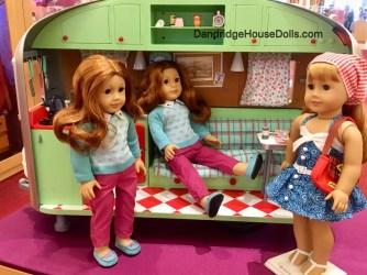 Ella & Emma love Maryellen's Camper